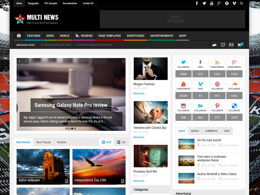 Multinews - Multi purpose Wordpress News,Magazine