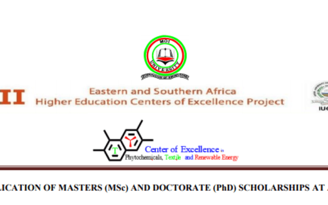 World Bank/Moi University Masters (MSc) & Doctorate (PhD) Scholarships 2019/2020 for young Africans (Deadline: 20 May 2019 )