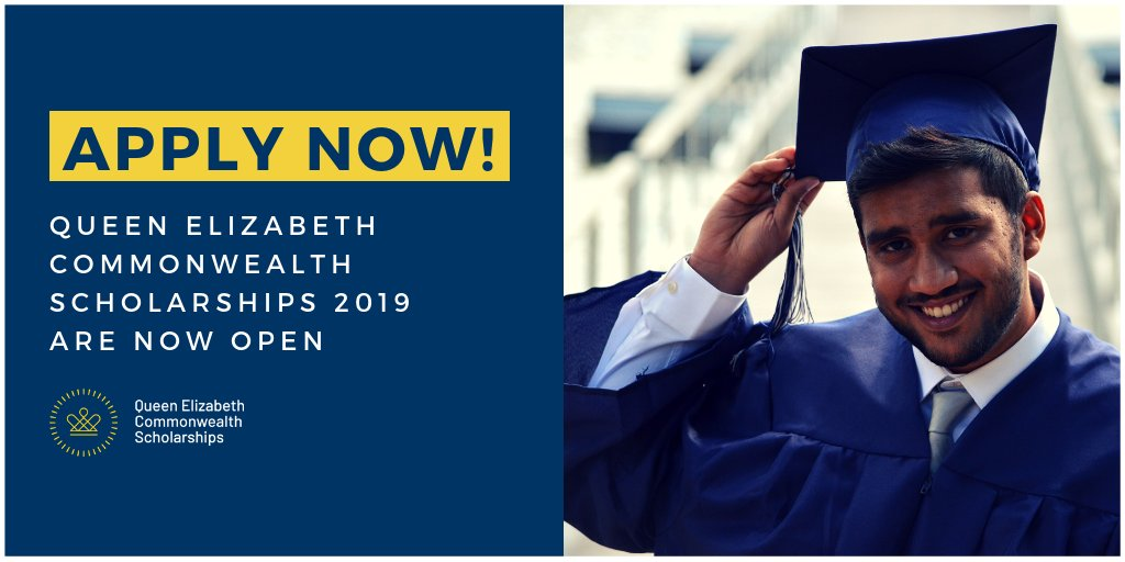 Masters Secholarships by Queen Elizabeth Commonwealth Scholarships (Deadline: 26 June 2019 )