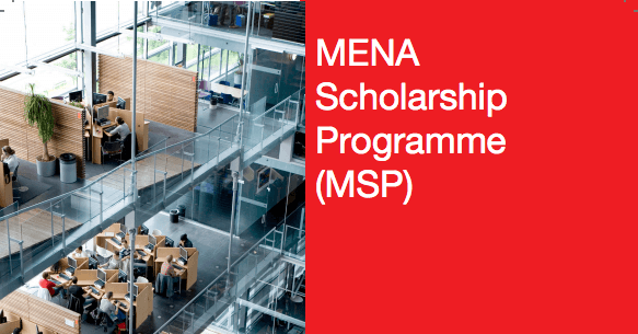Study in Holland : MENA Scholarship Programme (MSP) (Deadline: 01 November 2019)