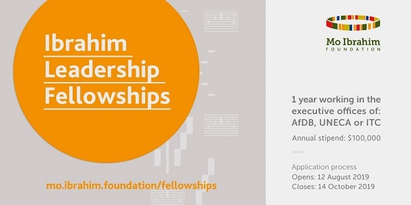 The International Trade Centre in partnership with the Mo Ibrahim Foundation; Fellowship Opportunity (Fully Funded to work at AfDB,UNECA & ITC with annual stipend of $100,000)(Deadline: 14 October 2019)