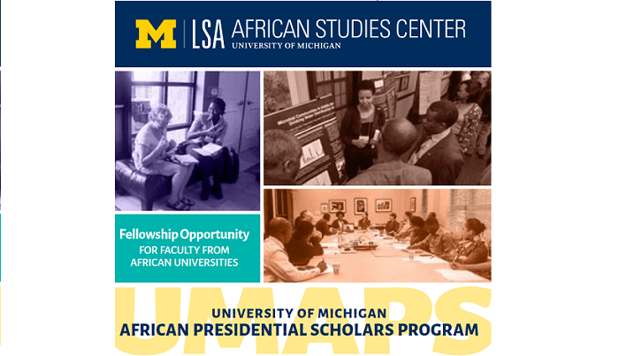 Presidential Scholars Program 2020/2021 for African Student in USA at  University of Michigan (Deadline: 15 October 2019)