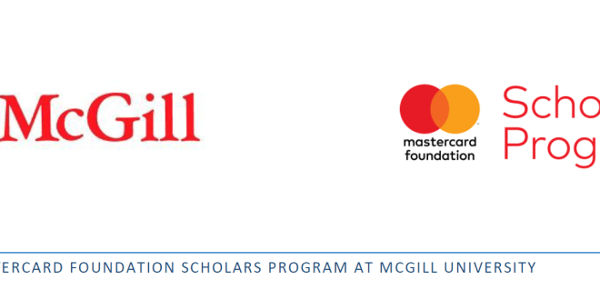 Mastercard Foundation Scholars Program at McGill for International Students (Apply  before: January 31, 2020)