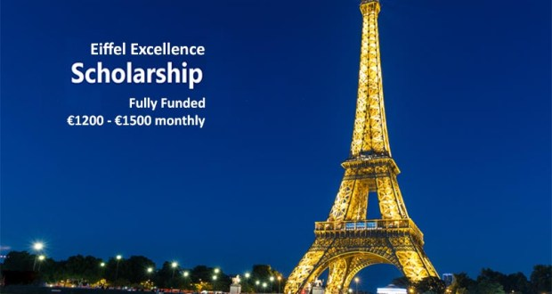 Phd Scholarships by  EIFFEL SCHOLARSHIP Program for International Students (Deadline: November 3; 2019)