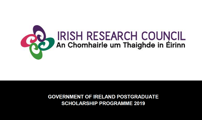 Scholarships for International Students by The Government of Ireland Postgraduate Scholarship Programme (Apply before:  24th November 2019)