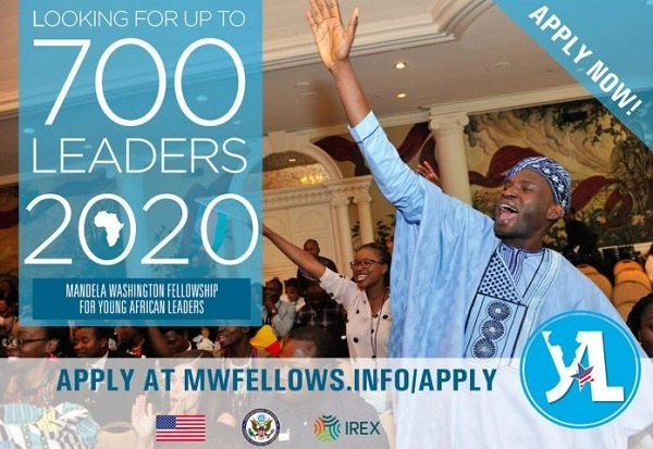 Yali 2020 Mandela Washington Fellowship for Young Africa Leaders (Fully Funded to the United States of America) (Deadline: 09 October 2019)