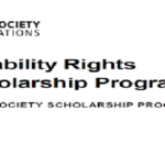 Master's & PhD studies from Open Society Foundation Disability Rights Scholarships Program 2020 for young Africans (Funded), Deadline: January 6, 2020.