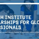 Master's Level Studies in Sweden : Full Funded Swedish Institute Scholarships for Global Professionals (SISGP) 2019/2020 for all nationalities (Deadline : February 20th 2019)