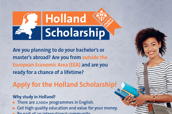 Holland Scholarships 2020/2021 for Bachelor's or Masters Study in the Netherlands : ( Deadline : 01 May 2020 )