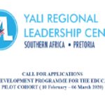 YALI Regional Leadership Center Southern Africa (YALI RLC-SA) Education Change Makers Programme 2020 (Fully Funded), Deadline : November 15th 2019