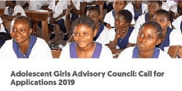 Global Fund for Women : Adolescent Girls Advisory Council: Call for Applications 2019. Deadline : 25 November 2019