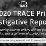 The 2020 TRACE Prize for Investigative Reporting: Uncovering Commercial Bribery, Deadline : January 31st 2020