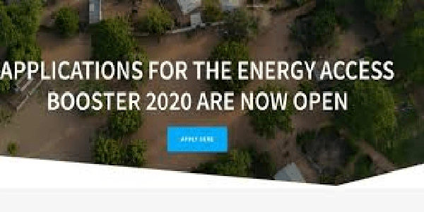 The 2020 Energy Access Booster open to entrepreneurs based in Sub-Saharan Africa & Asia, Deadline : 13 December 2019