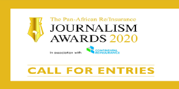 The Pan-African Re/Insurance Journalism Awards 2020 for Business Journalists, Deadline : 30th November 2019