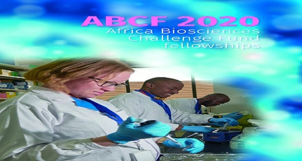 Africa Biosciences Challenge Fund fellowships 2020 : ( Deadline : 20 January 2020 )