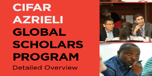 The CIFAR Azrieli Global Scholars 2020 program supports exceptional early-career researchers with funding, mentorship, a global network, and professional skills development. Deadline : 05 Februay 2020