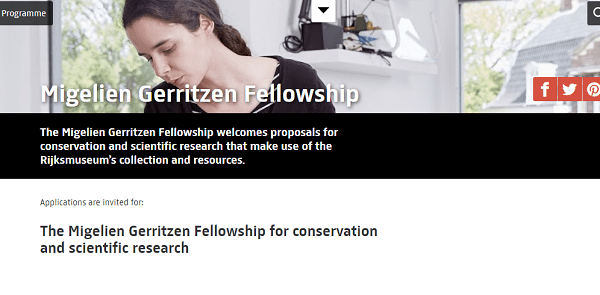 Migelien Gerritzen Fellowship for conservation and scientific research : ( Deadline : 19 January 2020 )