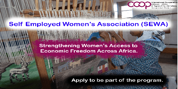 Self Employed Women's Association (SEWA) 2020 Program of Strengthening Womens' Access to Economic Freedom Across Africa. Deadline: 31 December 2019.