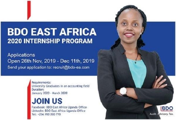 East Africa Internship Program 2020 for Accounting Graduates (Deadline: 11 December 2019)