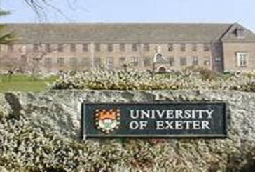 Funded Scholarships at University of Exeter in the UK: (Deadline 30 June 2020)