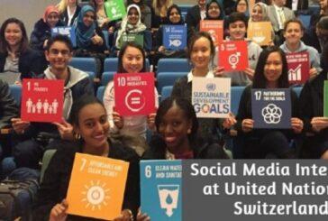 Social Media Internship at United Nations in Switzerland: (Deadline 3 January 2021)