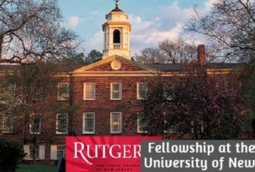 Fellowship at the State University of New Jersey in the United States of America: (Deadline 1 August 2020)