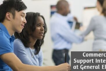 Commercial Support Internship at General Electric: (Deadline 31 July 2020)