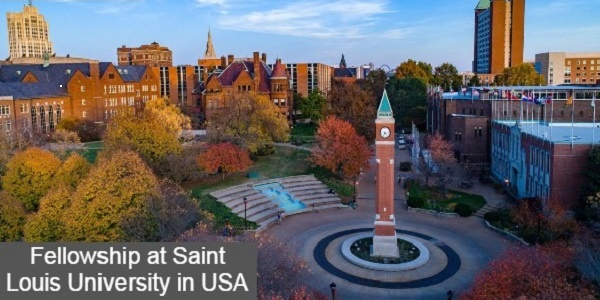 Fellowship at Saint Louis University in the United States: (Deadline 31 August 2020)