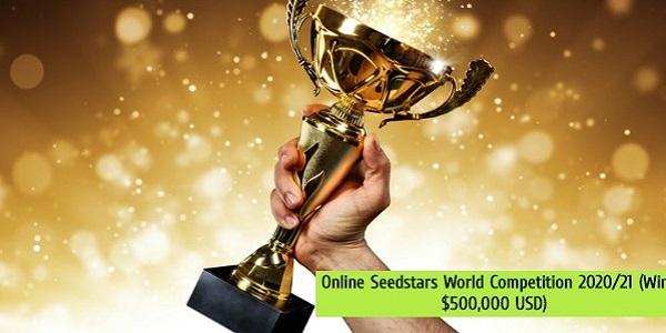 Online Seedstars World Competition 2020/21 (Win $500,000 USD): (Deadline 31 August 2020)