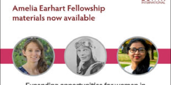 Amelia Earhart Fellowship 2021 for Women in Aerospace-applied Sciences/Engineering (Up to US$10,000): (Deadline 15 November 2020)