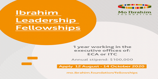 Mo Ibrahim Foundation Leadership Fellowship Programme 2021 at the United Nations Economic Commission for Africa (Fully Funded): (Deadline 12 October 2020)