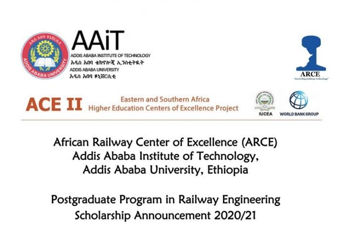 World Bank/ARCE MSc &PhD Scholarships in Railway Engineering 2020/2021 for young Africans