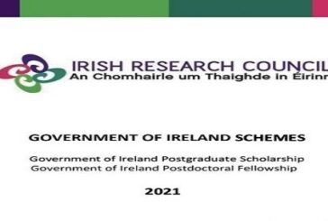 Government of Ireland Postgraduate Scholarship Programme 2021 for study in Ireland: (Deadline 29 October 2020)