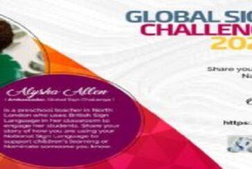 Call for Entries: Global Sign Challenge 2020: (Deadline 30 October 2020)