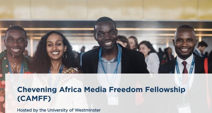 Chevening Africa Media Freedom Fellowship (CAMFF) 2021 for mid-senior level African Professionals (Fully Funded to the United Kingdom): (Deadline 3 November 2020)