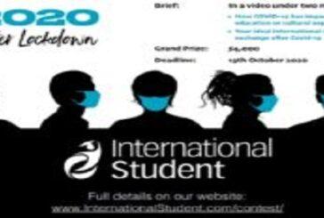International Student Travel Video Contest 2020: Life After Lockdown ($4,000 prize): (Deadline 13 October 2020)