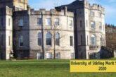University of Stirling Merit Scholarship 2020: (DeadlineOngoing)
