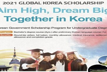 Korean Government Scholarship Program 2021 for Undergraduate study in South Korea (Fully Funded): (Deadline Varies)