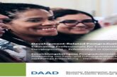 German Academic Exchange Service (DAAD) Development-Related Postgraduate Scholarships 2021/2022 for study in Germany (Fully Funded): (Deadline Varies)