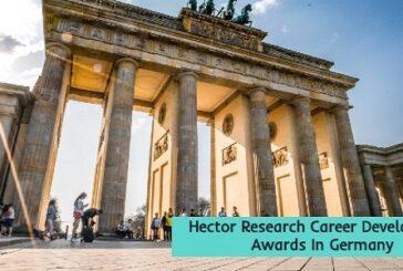 Hector Research Career Development Awards: (Deadline 30 October 2020)