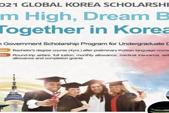 Korean Government Scholarship Program 2021 for Undergraduate study in South Korea (Fully Funded): (Deadline Varying by Country)