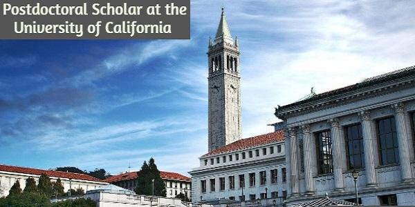 Postdoctoral Scholar at the University of California: (Deadline 8 October 2020)