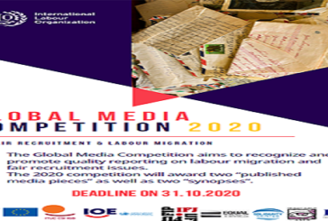 ILO Global Media Competition 2020 on Labour Migration and Fair Recruitment (Fully Funded Fellowship to ITC-Turin in Italy and $1,000+ cash Prize ): (Deadline 31 October 2020)