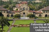 Fellowship at Stanford Law School in the United States: (Deadline 30 September 2020)