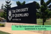 International awards at University of Queensland: (Deadline	31 October 2020)