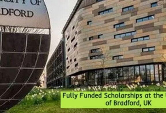 Fully Funded Scholarships Bradford University, UK: (Deadline 27 January 2021)