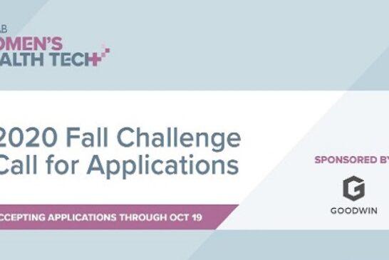 Women's Health Tech 2020 Fall Challenge: (Deadline 19 October 2020)