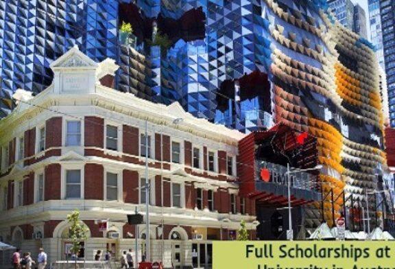 Full Scholarships at RMIT University in Australia: (Deadline 14 December 2020)