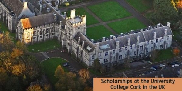 Scholarships at the University College Cork in the UK: (DeadlineOngoing)