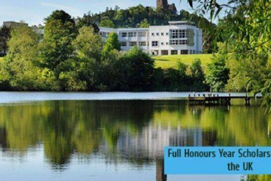 Full Honours Year Scholarship 2020 in the UK: (Deadline Ongoing)